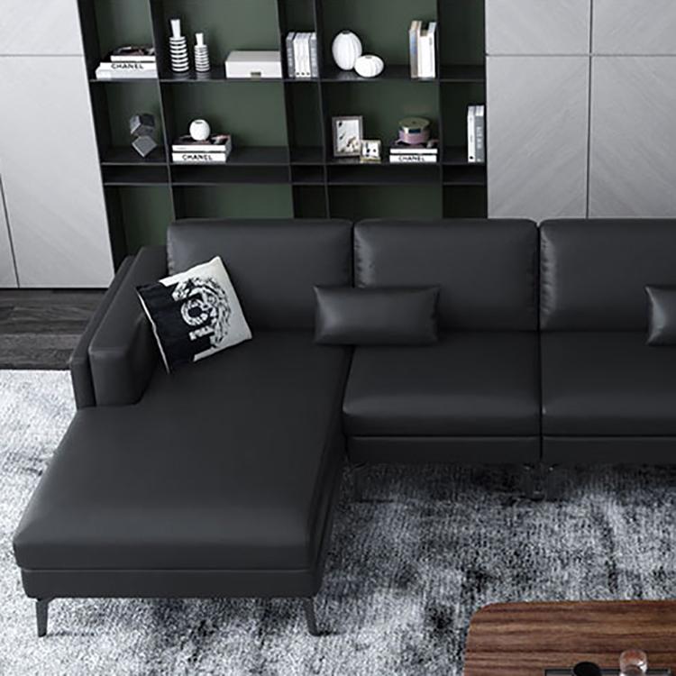 leathaire corner fabric sofa