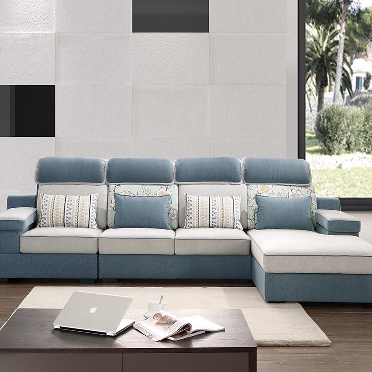 Living Room Furniture Corner Sofa Tela Sofa L Hugis Sofa