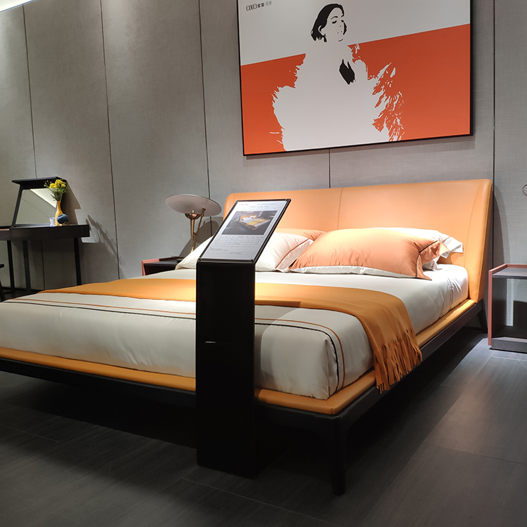 1903 Minimalist Style King Size Soft Bed New Design Double Bed Single Leather Beds