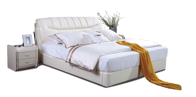 white soft bed