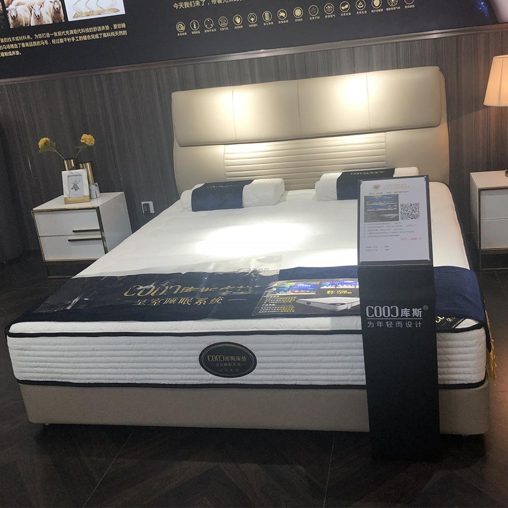 2561 غرفة نوم مزدوجة سرير مجموعة الأثاث رخيصة الجلود سرير الملك الحجم سرير