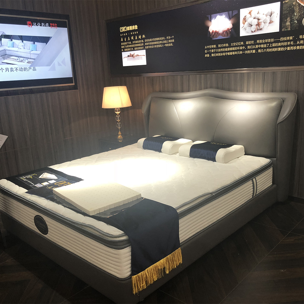 2539 Home Furniture Beds Design Luxury Double Bed Lluxury Double Bed Leather Queen And King Size Bed