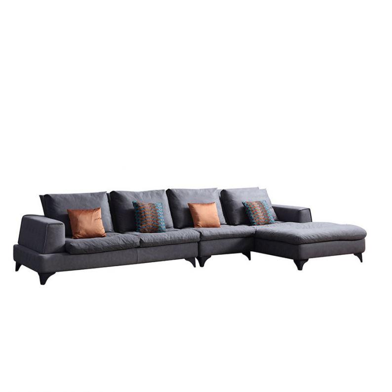 8139 Wholesale Cheap Corner Fabric Sofas L Shape Sofa Design