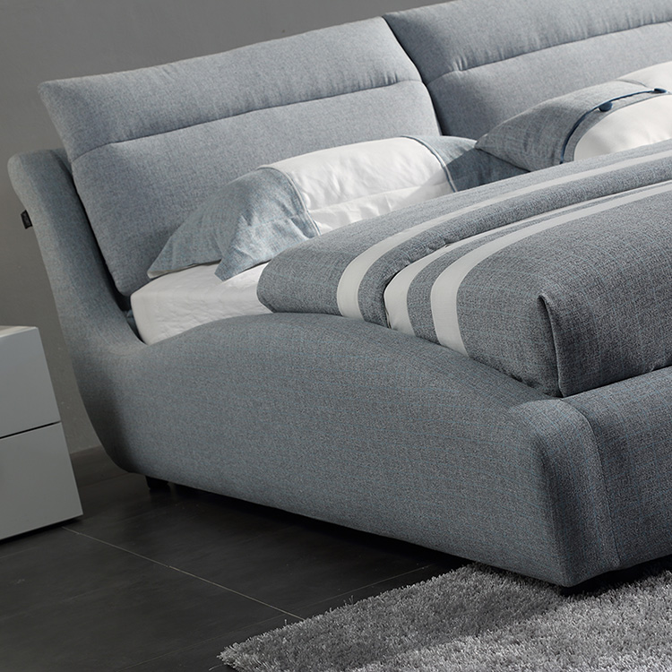 simple style bedroom soft bed