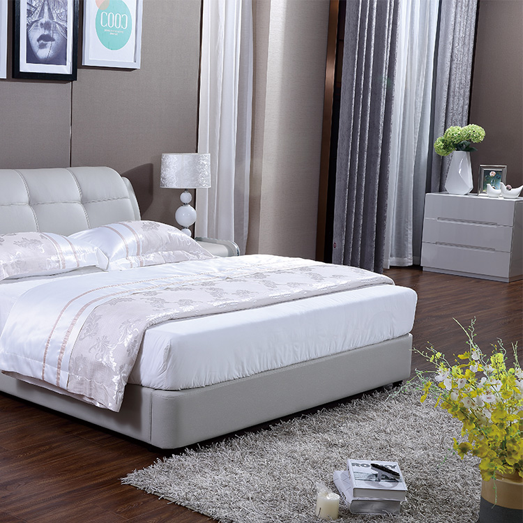 2505 Designs With Storage Bedroom Bed Hot Sale Leather Soft Bed King Size Bed