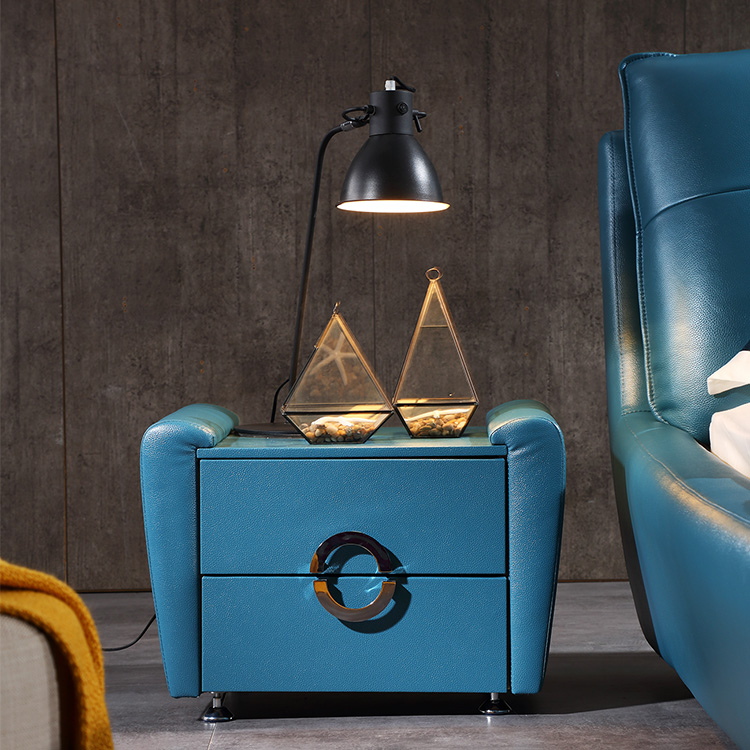 star style design leather bed