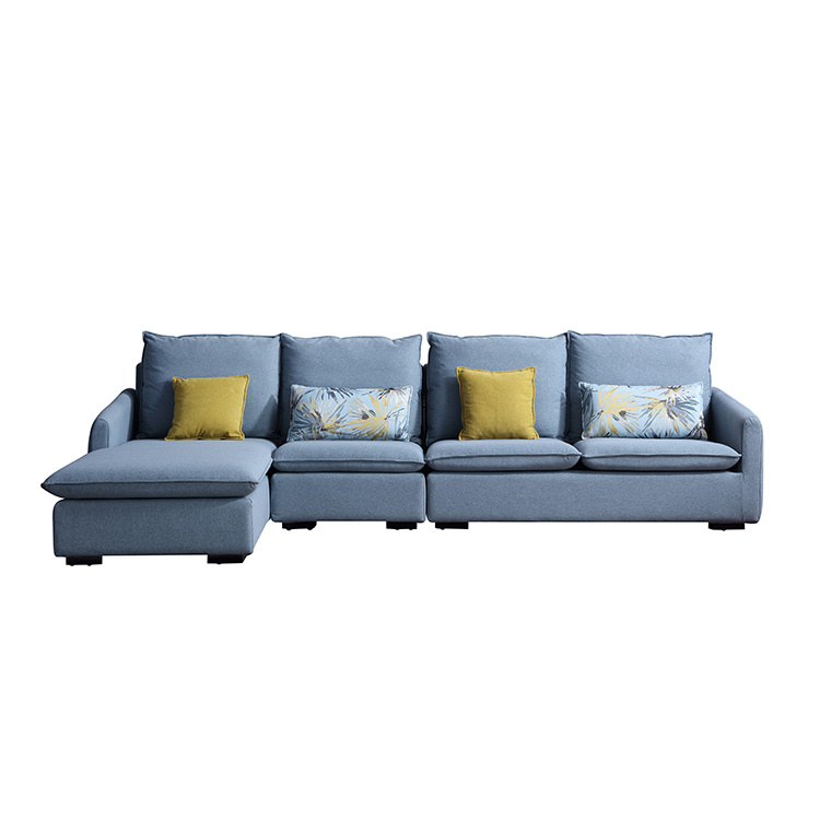 8132 Simple Style Designs For Living Room Furniture Corner Fabric Couch Sofa Set