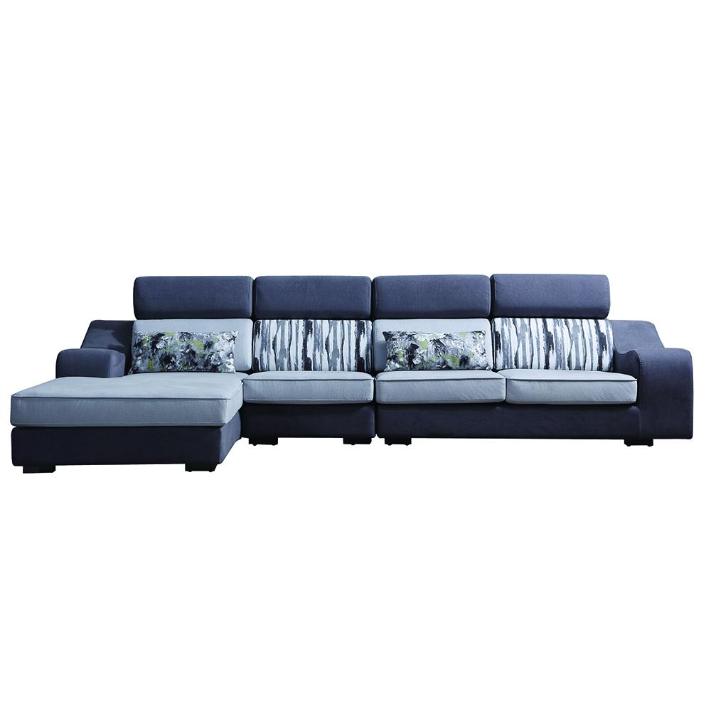 8102 लिविंग रूम कॉर्नर सोफा सिंपल फैब्रिक सोफा सेट पोनी टॉय डिजाइन के साथ