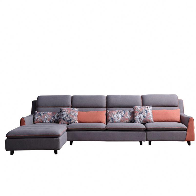 8119 High End Modern Design ng Home Furniture Corner na Tela ng Sofas