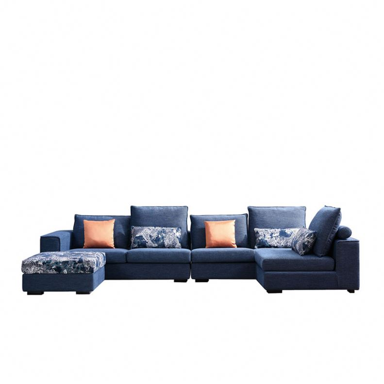 8116 Hot Sell Corner Fabric Sofas And 7 Seater Sofa L Shape Sofa