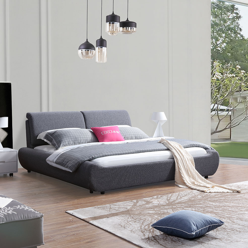 3100 Bedroom Furniture Set Modern Fabric Bed King Size