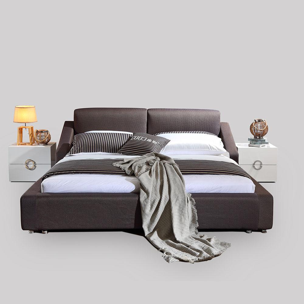3079 ชุดห้องนอนทันสมัยเตียงผ้าราคาถูกไม้ขนาดคิงไซส์เตียงนุ่ม