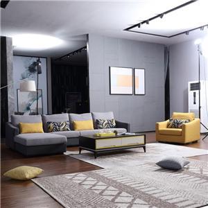 8133 Living Room Murang Muwebles na Tela ng Sofas L Shape Sofa
