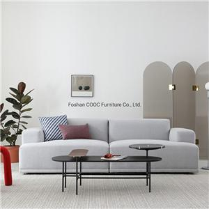 HYB-1006 Modern Home Furniture Grey 3 Seat Couch Living Room Fabric Sofa