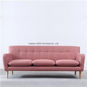 HYB-1021 Modern Fabric Furniture Chesterfield Pink Sofa