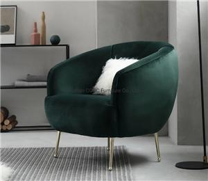 HYB-2008 Italian Style Living Room Furniture Modern Leisure Velvet Sofa Chair