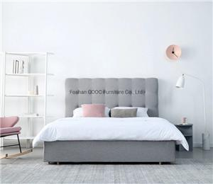 R05 Modern Bedroom Lenon Furniture King Microfiber Fabric Bed