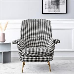 HYB-2011 Swallow Gird Style Leisure Chair Jacquard Sofa Chair