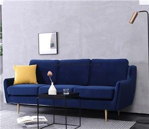 HYB-5029 Living Room Furniture Velvet Modern Sofa with Wood Frame