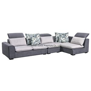 8090 Home Furniture Set Leathaire Sofa with Foot-Stool