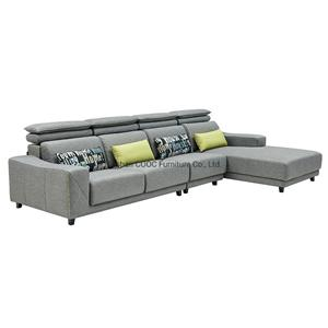 8125 Living Room Furniture Modern Chesterfield Recliner Grey Fabric Sofa