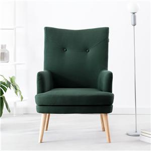 YK-2009 Living Room Furniture Modern Fabric Wood Frame Sofa Chair