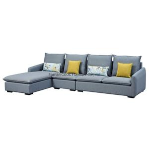 8132 Upholstered Furniture Fabric Italian Leisure Modern Sofa