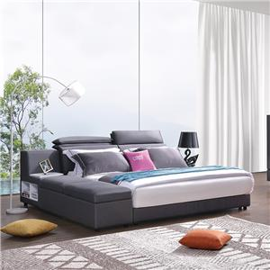 KS3150 Modern Furniture High Precision Mercerized Fabric Storage King Bed