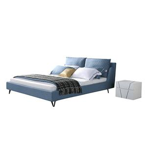 KS3170B Upholstered Bedroom Furniture Mercerized Fabric Bed