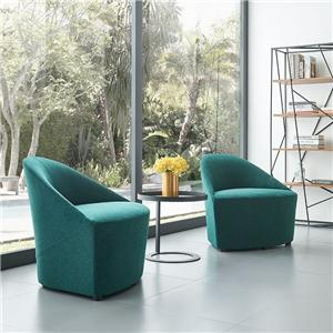 HYA-5200 Modern Business Furniture Fabric Single Lounge Chairs