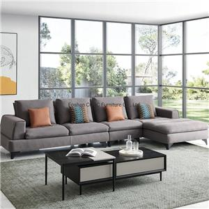 8139 Modern Sofa Gery Leathaire Living Room Furniture with Wood Frame