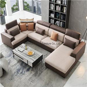 8166 Ruang Tamu Leathaire Leather Chesterfield Sofa Recliner Modern