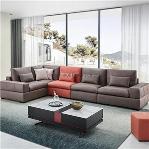 8165 Chesterfield Modern Design Leathaire Wood Frame Living Room Sofa with Latex Seat