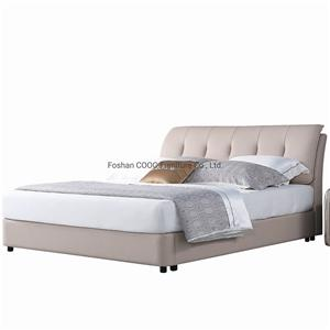 KS2328C Modern Chinese Bedroom Furniture Super Soft Pastel Color King Bed