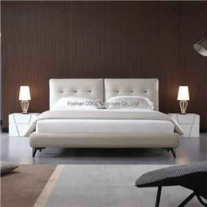 KS2591 Modern Super Soft Bedroom Furniture King Queen Size Leather Bed