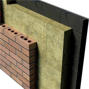 Curtain wall composite rock wool