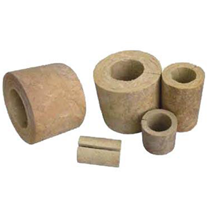 Sectional pipe insulation rock wool