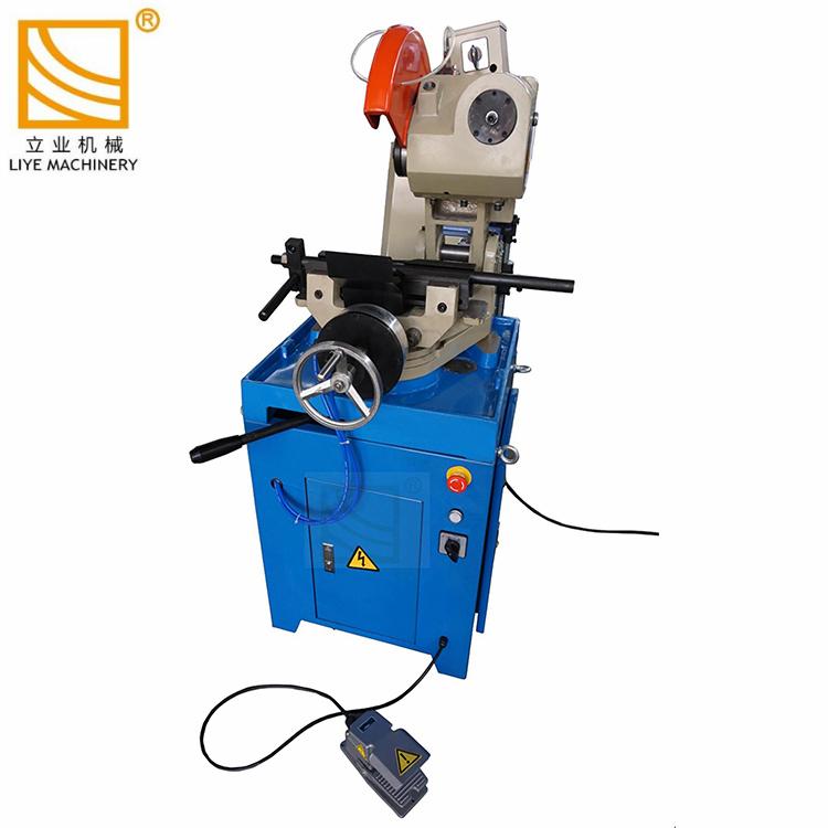 Scie circulaire tuyau métallique pneumatique profil machine de découpe