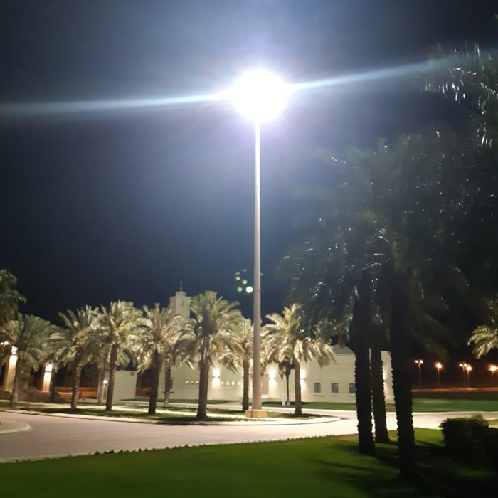 750W LED high mast flood light in Saudi Arabia