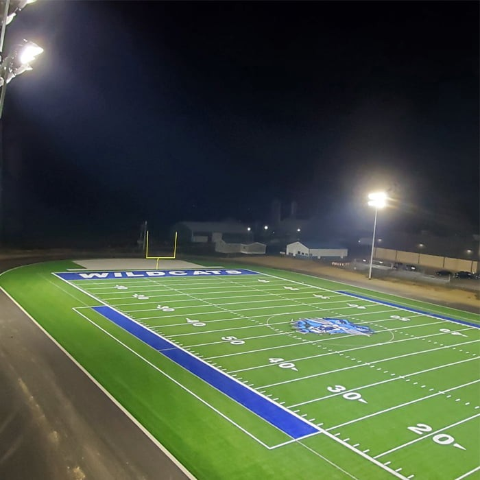 1200W sports LED installed in High School