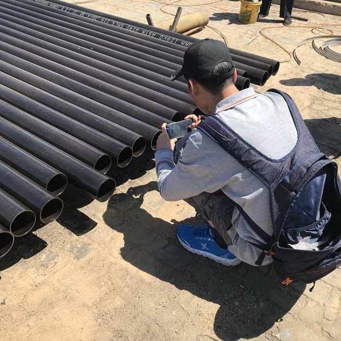 Dritte Inspektion für nahtloses Stahlrohr
