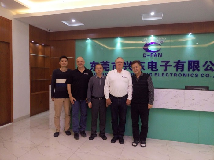 Qualtek Electronics came to visit our factory and discussed business in our factory
