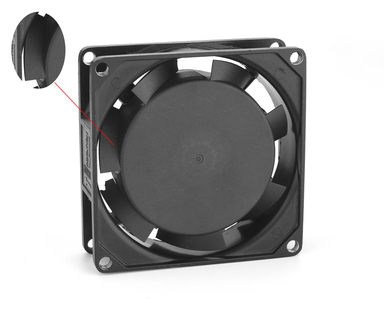 แรงดันไฟฟ้า 80X80X25 มม BI 115V 220V AC 3 นิ้ว Axial Fan