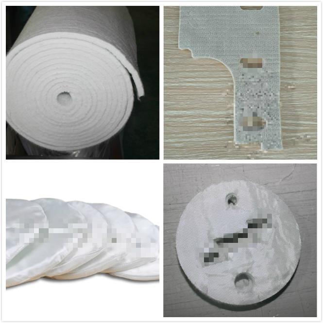 Estera de fibra de vidrio sin humo para equipos de ...