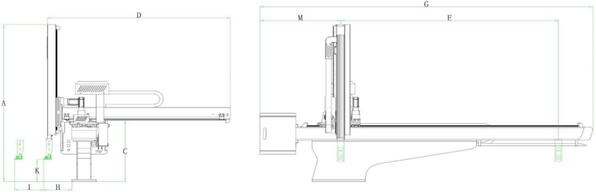 3-Achsen-Servomotor Roboterarm