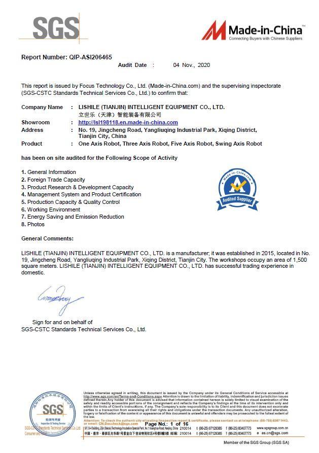 SGS-Zertifikat