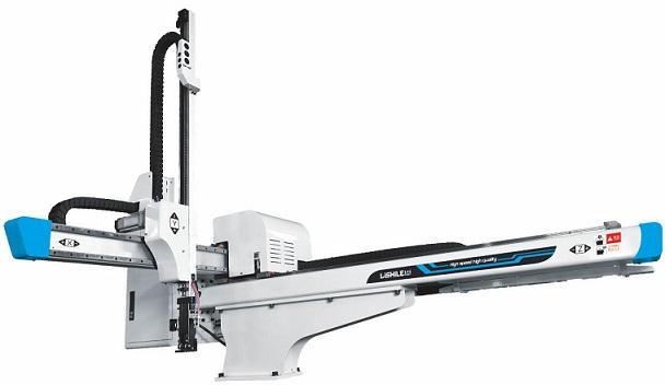 ذراع روبوت صناعي ذو خمسة محاور للتحكم بالكمبيوتر عالي الجودة لآلة التشكيل بالحقن