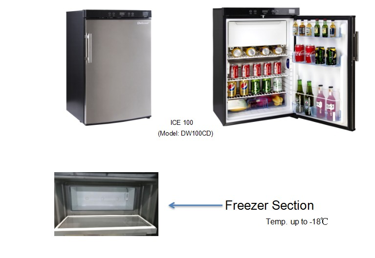1st 100L absorption fridge with freezer ready to go