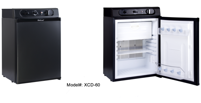 Dellcool 60L outdoor refrigerator with freezer section starting its journey to New Zealand