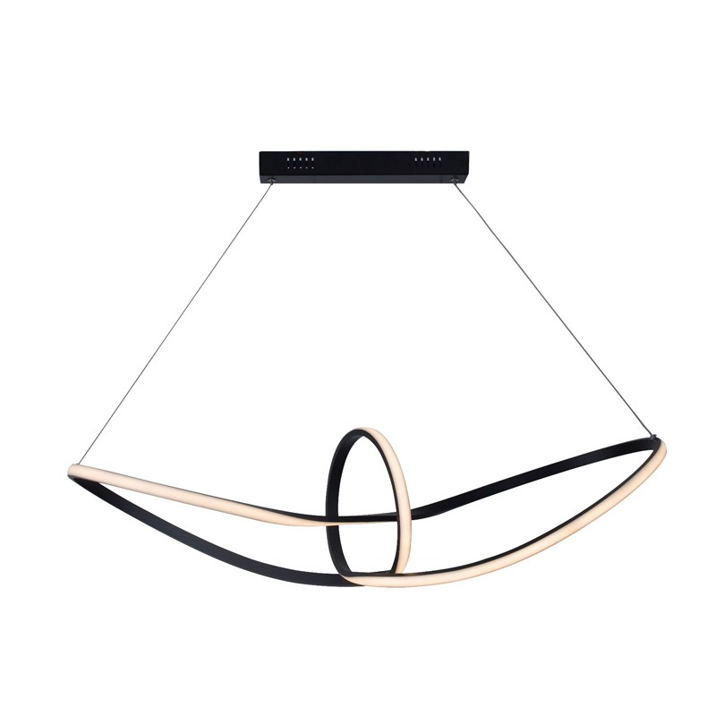 Black Modern Chandelier Lamp